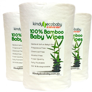 Bamboo Flushable Dry Wipes x 2 Pack