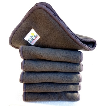 Charcoal Bamboo & Microfibre Inserts x 10