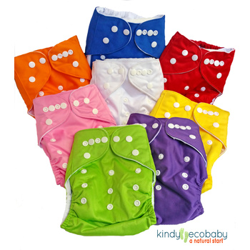Cloth Nappies Incl Microfibre Inserts x 10