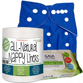 Cloth Nappy, Liners & Wipes: Blue