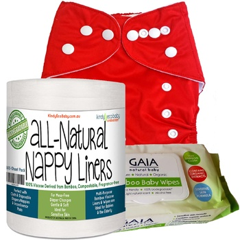 Cloth Nappy, Liners & Wipes, Red