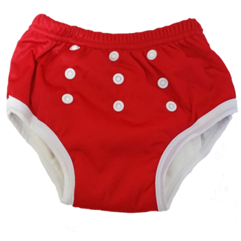 Swimmers & Training Pants [Colour: Red]